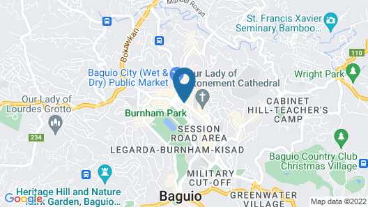 Baguio City Center Hotel Map