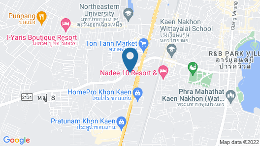 The Convenience Hotel Khon Kaen Map
