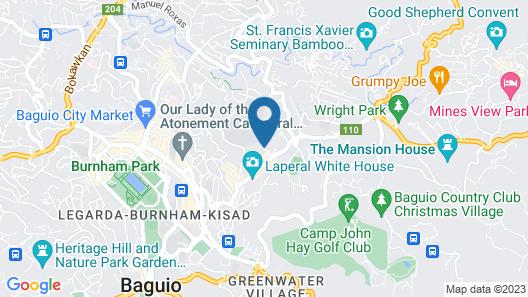 Azalea Hotels & Residences Baguio Map