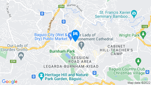 Cedar Peak Condo Near Session Road Map