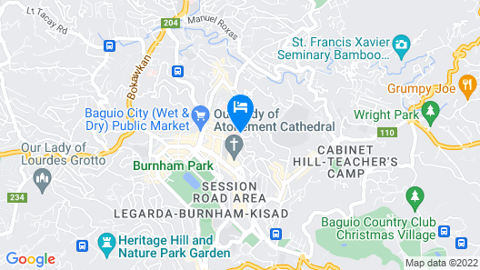 3BU Hostel Baguio Map