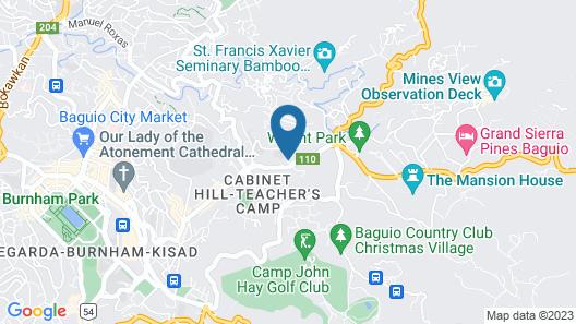 SAFARI LODGE BAGUIO by Log Cabin Hotel Map