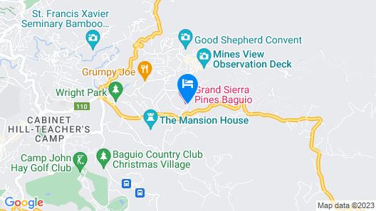 Grand Sierra Pines Baguio Map