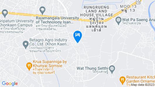Baan Suan Siriphon Resort Khon Kaen Map