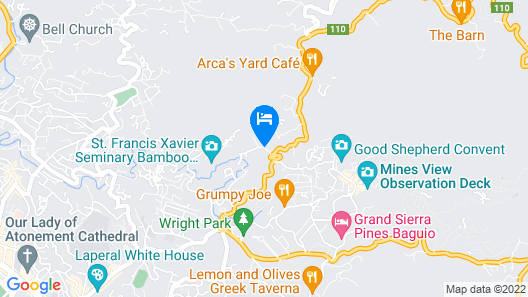 Baguio Tiptop Vacation Homes Map