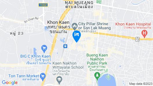 Glacier Hotel Khon Kaen Map