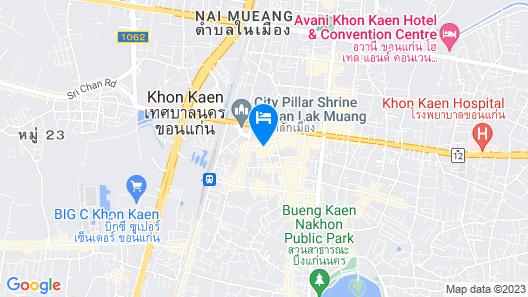 Pullman Khon Kaen Raja Orchid Map