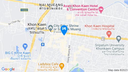 Charoenthani Khonkaen Hotel Map