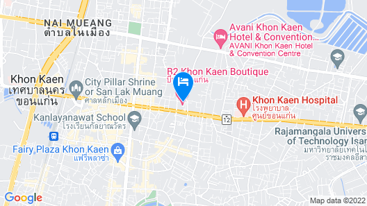 B2 Khon Kaen Boutique & Budget Hotel Map