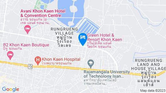 Green Hotel & Resort Khon Kaen Map