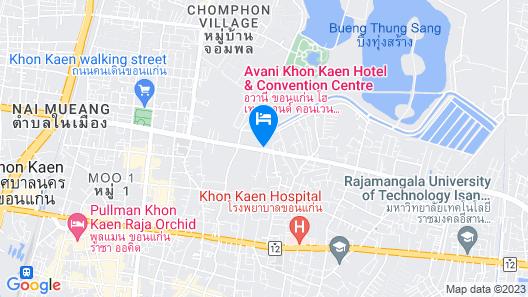 Avani Khon Kaen Hotel & Convention Centre Map