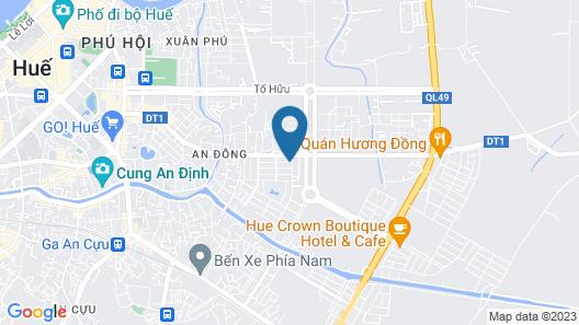 Hue Budget Hostel Map