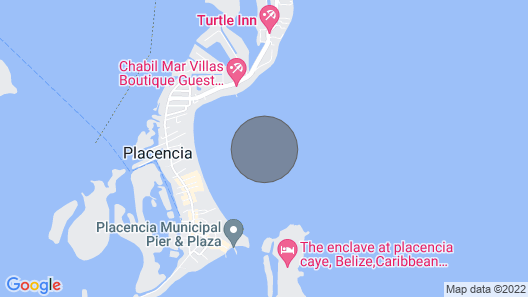 The Blue Marlin Cabana at King Lewey's Island Resort, Placencia Cayes, Belize Map