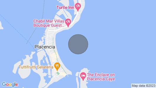 The Yellowtail Cabana at King Lewey's Island Resort, Placencia Cayes, Belize Map