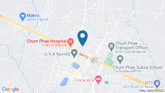 Chum Phae Lagoon Resort Map