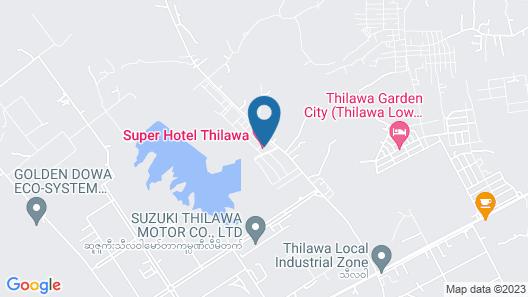 Super Hotel Thilawa Map