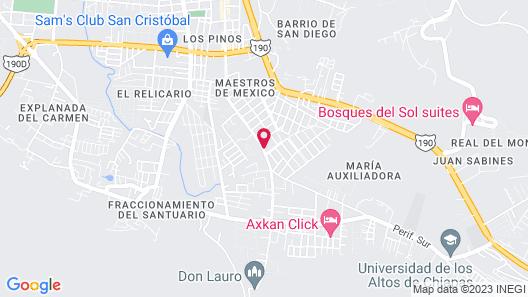 Hotel Hacienda Don Juan Map