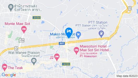 Centra by Centara Hotel Mae Sot Map