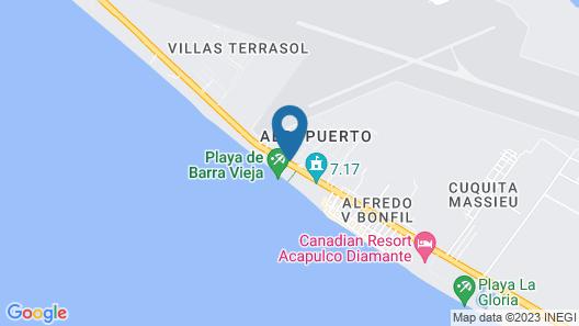 Departamento Puente Del Mar Map