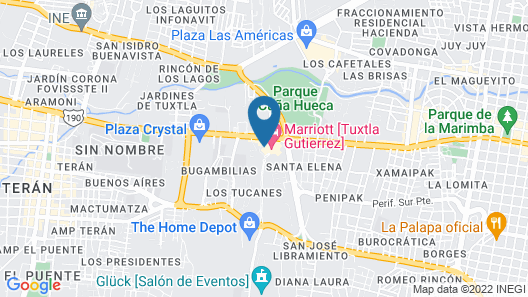Marriott Tuxtla Gutierrez Hotel Map