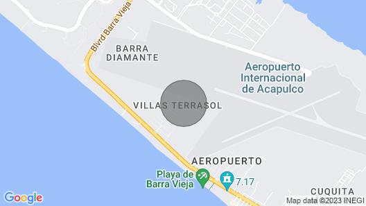 Hermosa casa en Acapulco Diamante Map