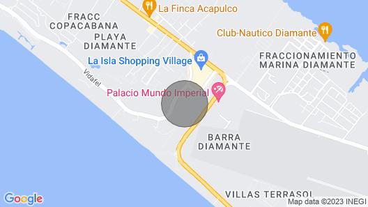 Acapulco Paradisiaco en la Isla Map
