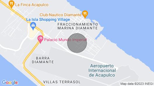 Confortable Apartment in Acapulco Diamante Map