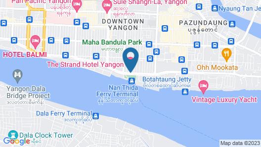 The Strand Yangon Map