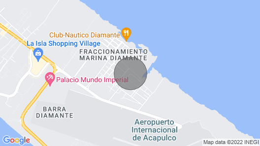 Departamento/apartament Marina Diamante Acapulco Map