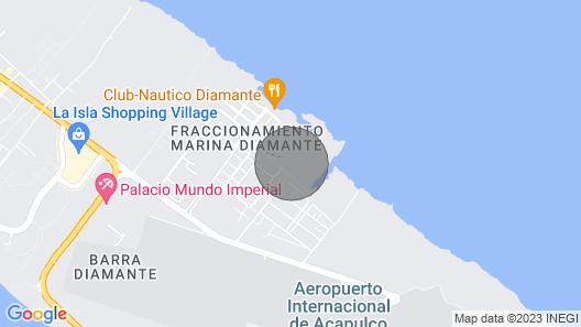 Marina Diamante Residence Complete apartment in Acapulco Diamante Map