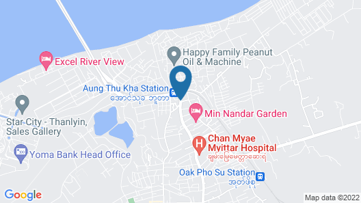 Min Nandar Garden Hotel Map