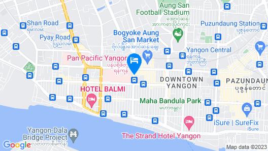 Pan Pacific Yangon Map