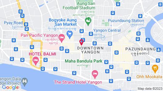 Sule Shangri-La Yangon Map