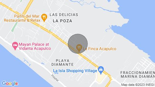 Acapulco Diamante apartment with Roof Garden Map