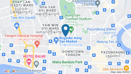 Hotel G Yangon Map