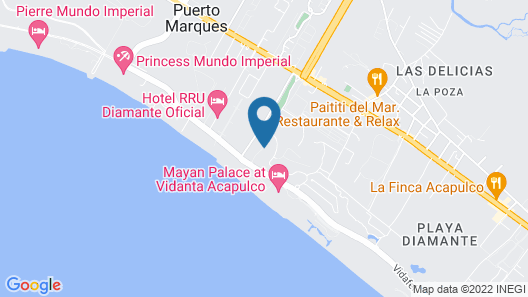 Magnificent Loft in the Best Area of Acapulco Map