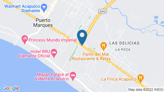 Holiday Inn Acapulco La Isla Map