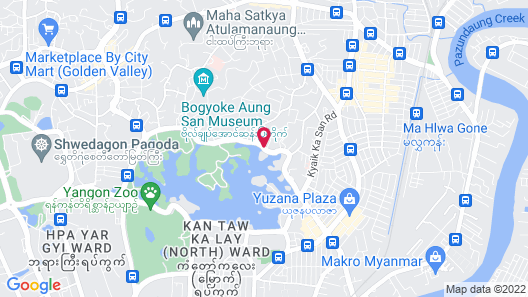 Chatrium Hotel Royal Lake Yangon Map