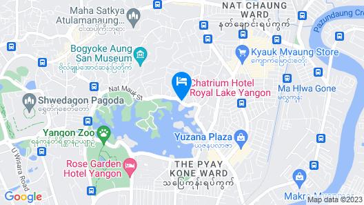 Chatrium Hotel Royal Lake Yangon Map