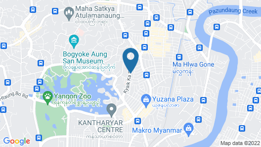 H Plus Hotel Yangon Map