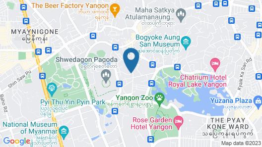 Azumaya Hotel Myanmar Map