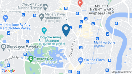 Holiday Hotel Yangon Map