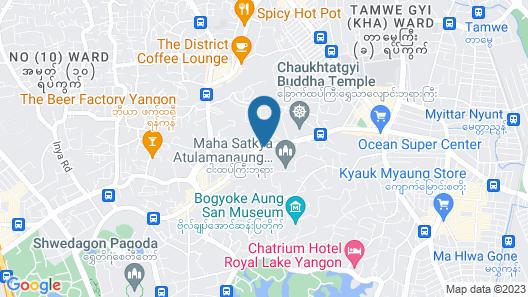 Hotel Shwe Gone Daing Map