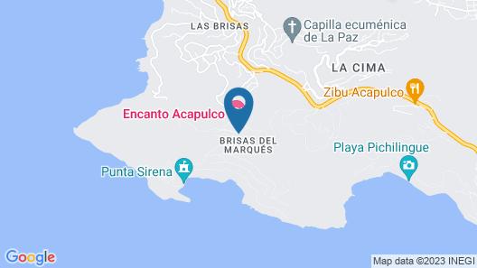 Encanto Acapulco Map