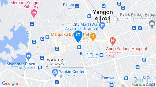 Power Motel Yangon Map
