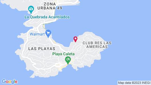 Alba Suites Acapulco Map