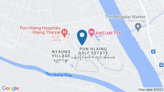 Awei Metta Yangon Map