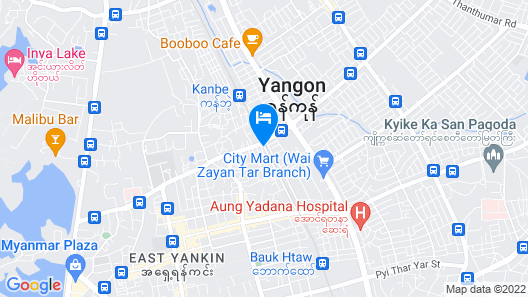 Wishton Hotel Yangon Map