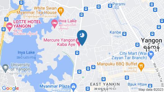 Mercure Yangon Kaba Aye Map