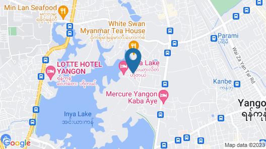 Inya Lake Hotel Map